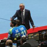 Marco Trespidi, delegato EHF, durante Norvegia-Slovenia