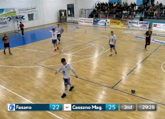 Dirette streaming di A1, screenshot di Fasano-HC Cassano, pallamano A1 Maschile
