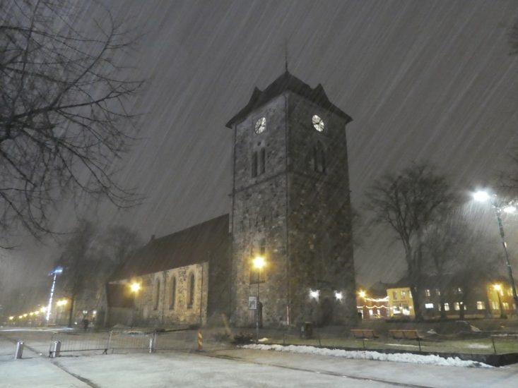 Nevischio a Trondheim nel gennaio 2020